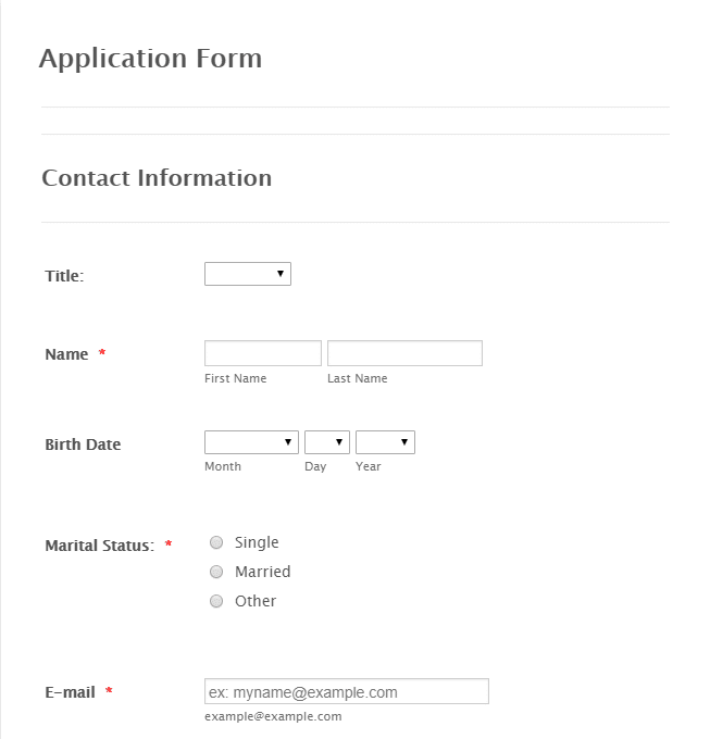 6 ways to capture leads on your website - application form