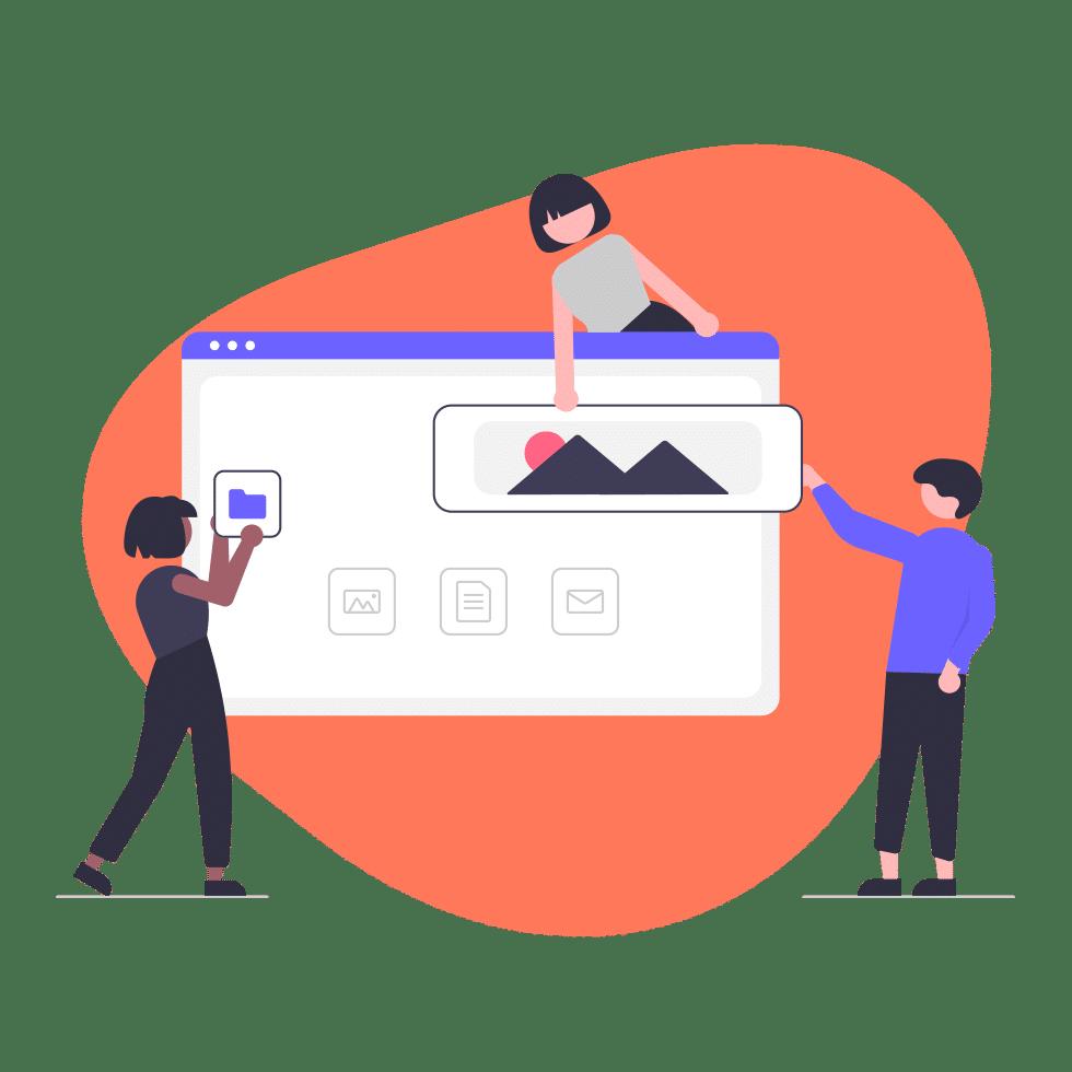 Sales funnel landing page design